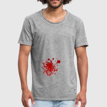 Blood splatter splatter Halloween blood spatter - Men's Vintage T-Shirt