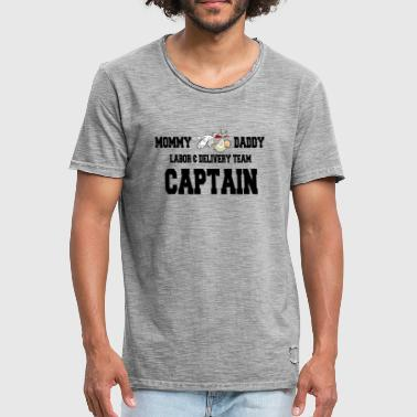 Bevalling Team Captain - Mannen Vintage T-shirt