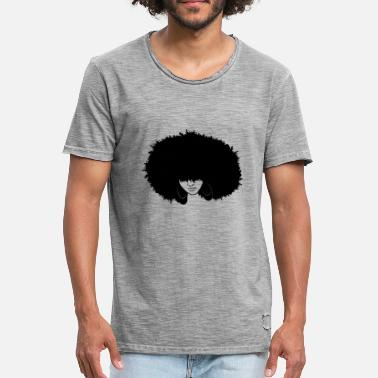 Afro Girl Beautiful Afro Lady - Men's Vintage T-Shirt