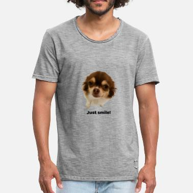 Cookie Cookie smiling and happy. - Männer Vintage T-Shirt