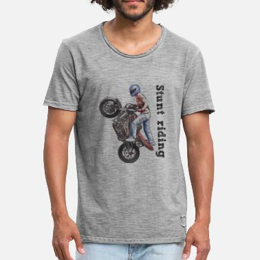 Stunt Bike Stunt riding - Camiseta vintage hombre