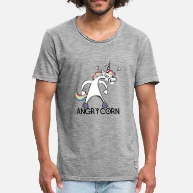 Unicorn Angry Unicorn - T-shirt vintage Homme