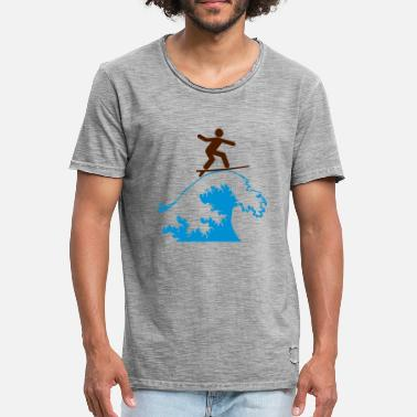 Teahupoo SURF VAGUE - T-shirt vintage Homme