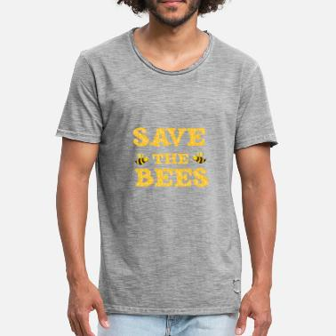 Save The Bees Funny Save The Bees Gift - Vintage T-shirt mænd
