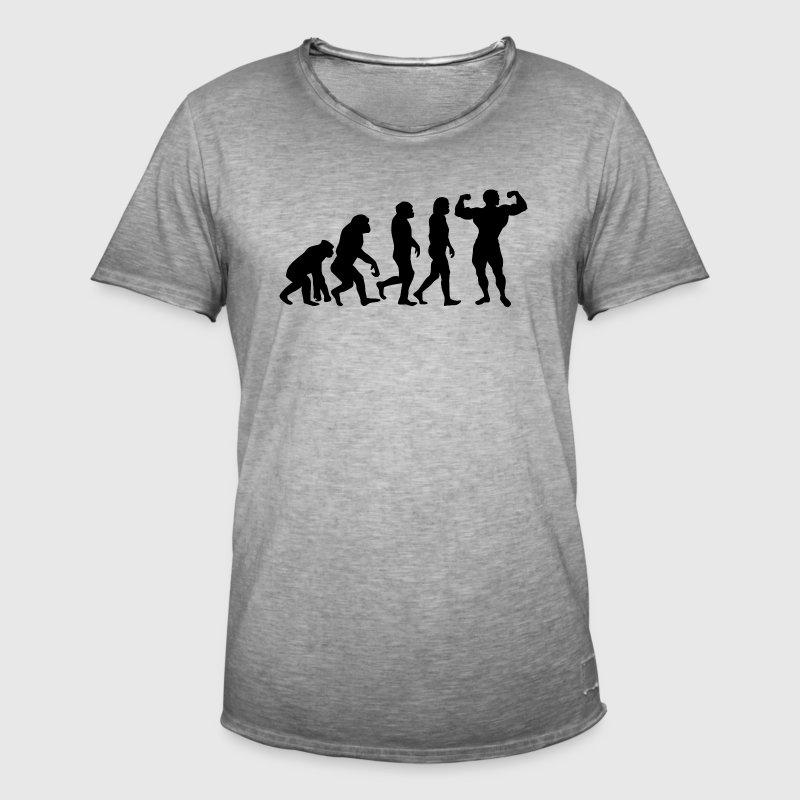 ++ ++ BODYBUILDING EVOLUTION - T-shirt vintage Homme