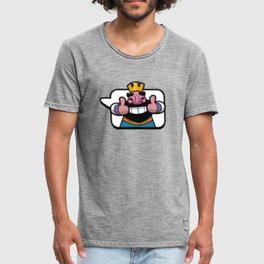 Emoticon King Royale Clash - Men's Vintage T-Shirt