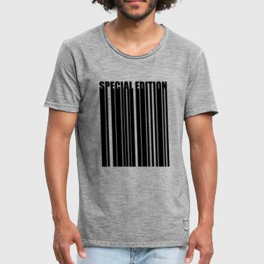 Special Number Barcode Barcode special edition Special Edition - Men's Vintage T-Shirt