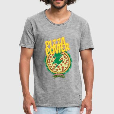 TMNT Turtles Pizza Power Shield - Men's Vintage T-Shirt