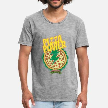 TMNT Turtles Pizza Power Shield - Camiseta vintage hombre