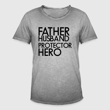 Father man protection hero - Men's Vintage T-Shirt