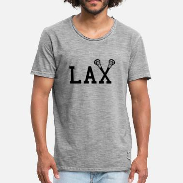 College Style LAX Lacrosse College Style - Men's Vintage T-Shirt