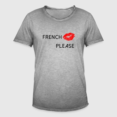 French Kiss - Men's Vintage T-Shirt