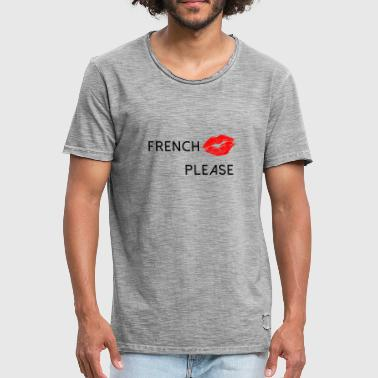 French Kiss - Camiseta vintage hombre
