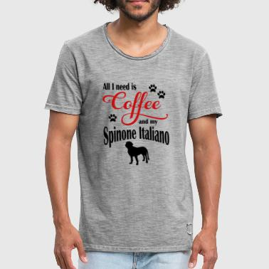 Spinone Italiano Coffee - Men's Vintage T-Shirt
