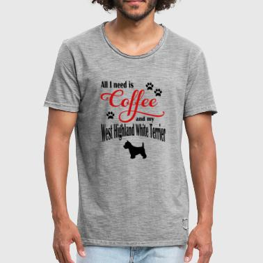 West Highland White Terrier West Highland White Terrier café - Camiseta vintage hombre