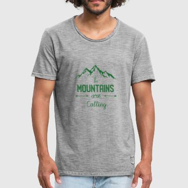 The Mountain Calls Mountains are calling - the mountain is calling - Men's Vintage T-Shirt