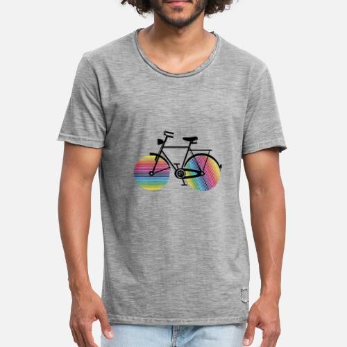 de3f9826ca74 Fahrrad mit Regenbogen Räder Männer Vintage T-Shirt   Spreadshirt