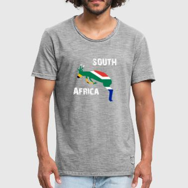 Springbok Nation Design South Africa Springbok Wyv - Men's Vintage T-Shirt