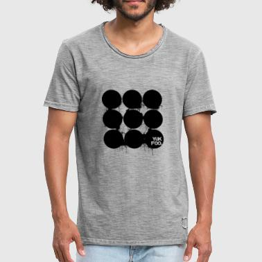 Abnormale Circles & Drips - Mannen Vintage T-shirt