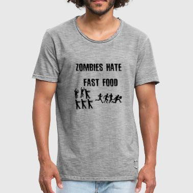Custom Zombie Zombies hate fast food - Men's Vintage T-Shirt