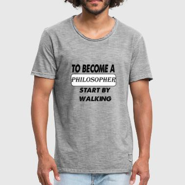 Selfconfidence to become a philosopher - Men's Vintage T-Shirt
