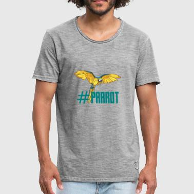 Loret hashtag parrot english ornithology gift - Men's Vintage T-Shirt