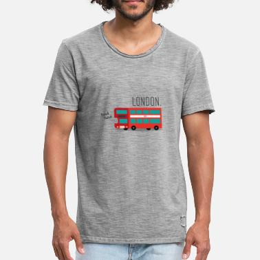 London Bus The Red London Bus - Men's Vintage T-Shirt