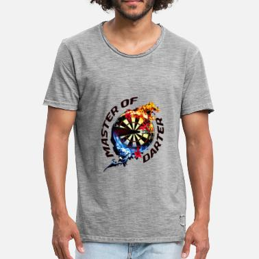 Design for crazy dart players funny gift - Men's Vintage T-Shirt