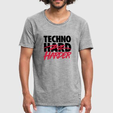 Techno harder - Men's Vintage T-Shirt