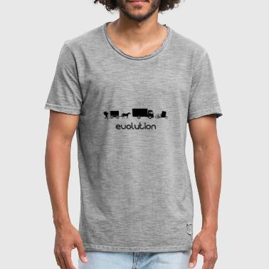 Auto Cargo Wheel Transport Evolution - Mannen Vintage T-shirt