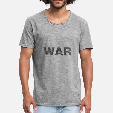 Peace Not War War Peace War and Peace - Men's Vintage T-Shirt