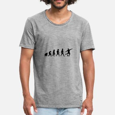 Football Evolution Evolution Football Player Football - Men's Vintage T-Shirt
