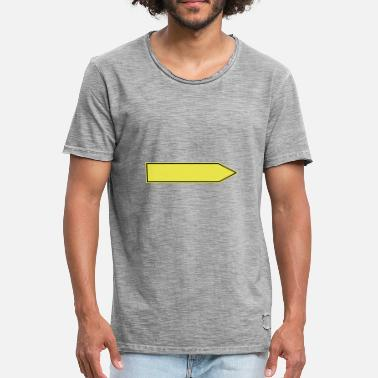 Redirection Shield banner place sign place gift redirection - Men's Vintage T-Shirt
