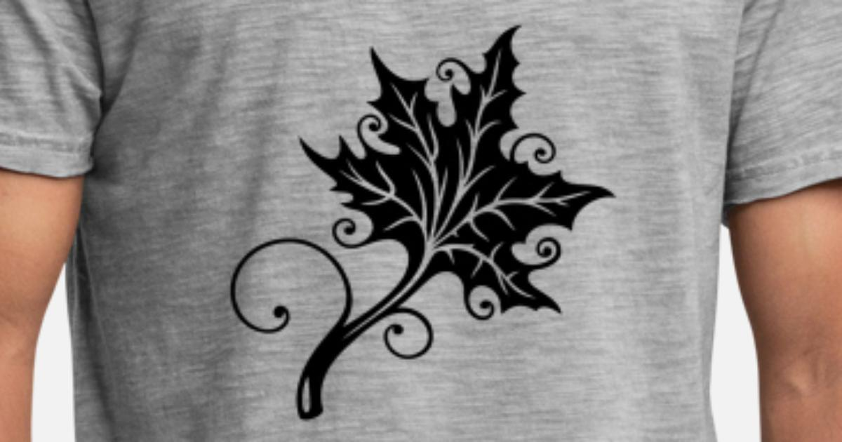 Herbst Blatt Ahorn Tattoo Style Manner Vintage T Shirt Spreadshirt