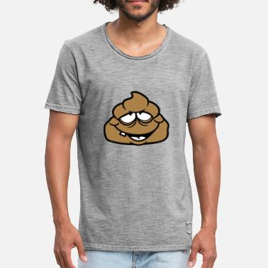 Shit Faced shit kot disgusting face heap haeufchen shit - Men's Vintage T-Shirt
