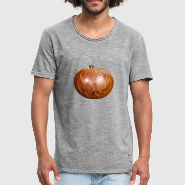 Halloween killer pumpkin with glowing eyes - Men's Vintage T-Shirt