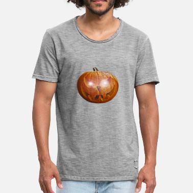 Glowing Eyes Halloween killer pumpkin with glowing eyes - Men's Vintage T-Shirt
