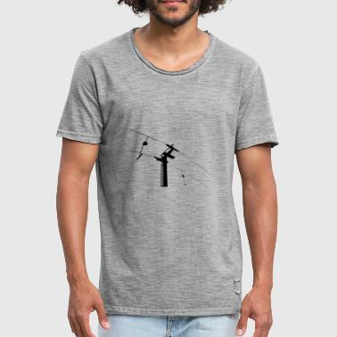 Skilift Retro Skilift - Sessellift Illustration - Tallerken - Herre vintage T-shirt