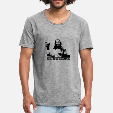 Subtitles Be Awesome Jesus - Men's Vintage T-Shirt