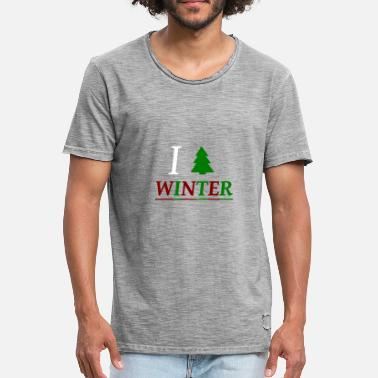 I Love Winter Winter / Ich liebe den Winter / I love Winter - Männer Vintage T-Shirt