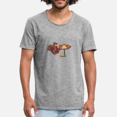 And Eat Pizza EAT PIZZA - Men's Vintage T-Shirt