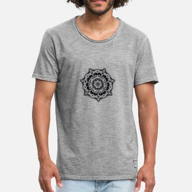 Transparent mandala transparent - Männer Vintage T-Shirt