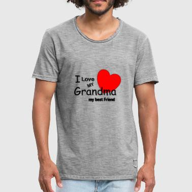 I Love My Grandma I LOVE MY GRANDMA - Men's Vintage T-Shirt