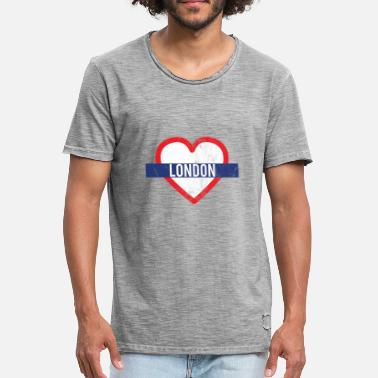 Palace Love London - City Break - Gift - Heart Subway - Maglietta vintage da uomo