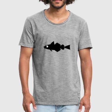 Fisch Cartoon Cartoon Fisch - Männer Vintage T-Shirt