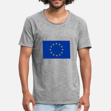 Europe Flag Flag of Europe - Men's Vintage T-Shirt