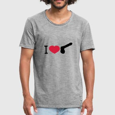 Cock Gay i love heart gay gay cock lover penis gr - Men's Vintage T-Shirt