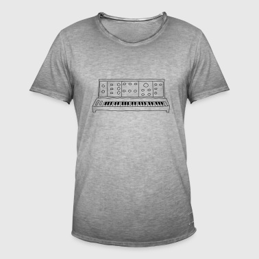 analoge synthesizer - Mannen Vintage T-shirt
