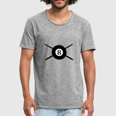 Billiard Ball 8 Kö - Men's Vintage T-Shirt