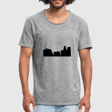 Oxford Oxford skyline - Vintage-T-skjorte for menn